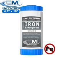 Iron Filter - Iron & Manganese Reducing Filter Cartridge 4.5-inch x 10-inch Whole-House Water Filter Replacement Cartridge