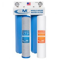 2 Stage Whole House Water Filter for Sediment, Chlorine & Chemical Reduction