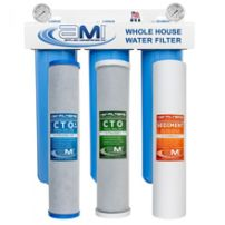 3 Stage Whole House Water Filter for Sediment, Chlorine & Chemical Reduction