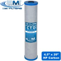 Whole House Replacement Filter | High Performance Carbon Block Filter Cartridge  4.5x20 for 20-Inch Big Blue Housing Removes Chlorine, Chloramine, Taste, Odor & Chemicals