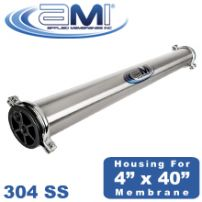 304 Stainless Steel Membrane Housing Pressure Vessel for 4x40 RO UF NF MF Membranes