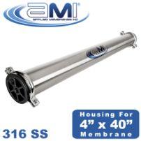 4x40 Pressure Vessel Membrane Housing for 4040 RO Membrane Stainless Steel 300 PSI
