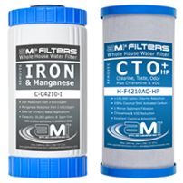 Whole House Water Filter Replacements Carbon Iron Manganese 2-Stage Filter Cartridge Replacement