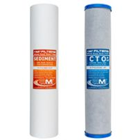 Whole House Water Filter Replacement Pack | 2-Stage Carbon and Sediment Filter Cartridges | Fits 20-inch Big Blue housing
