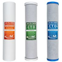 Whole House Water Filter Replacement Pack | 3-Stage Carbon and Sediment Filter Cartridges | Fits 20-inch Big Blue housing