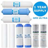 Replacement Filter Kit AMI Ultra Home RO + UF |  1 Year Supply of Filters & Membranes
