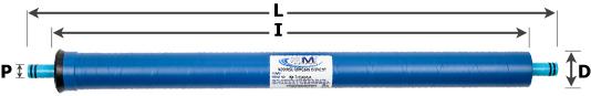 Low Energy RO Membrane 2x26 inch