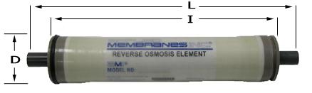 25 x 14 BWRO Fiberglass FRP Shell Membrane Element Commercial