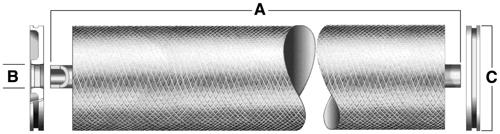 DOW FilmTec Full Fit Sanitary RO Membrane Drawing