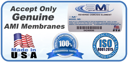 Genuine AMI RO Membranes Made in USA ISO Certified