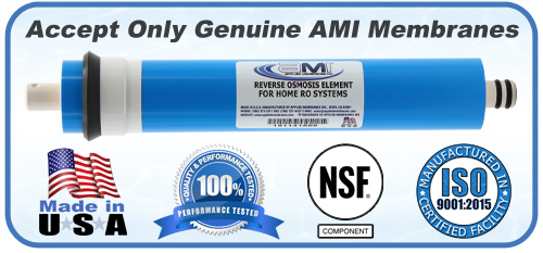 Genuine AMI RO Membranes Made in USA NSF Approved ISO Certified