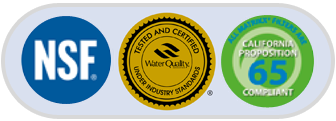 KX Filters are NSF WQA California 65 Compliant