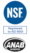 King Instrument Company is ISO NSF Certified and ANAB Accredited