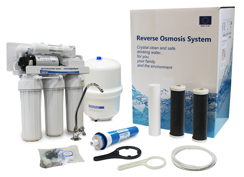 Home RO Reverse Osmosis System with Booster Pump for Low Pressure