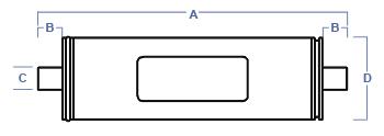 Commercial RO Membrane Element Dimensions