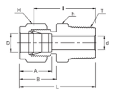 Stainless Steel Fitting for FRP Pressure Vessels