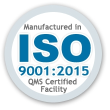 Manufactured in an ISO Quality Certified Facility
