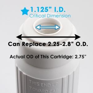 "2.5"" Diameter Water Softening Cartridge Filter 10"" Standard"