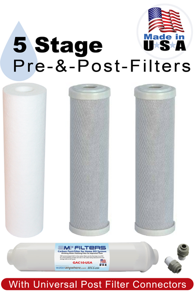 RFK-5-USA Made in USA  Replacement Filters for Home RO Water Filter System