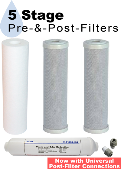 RFK-5  Replacement Filters for Home RO Water Filter System
